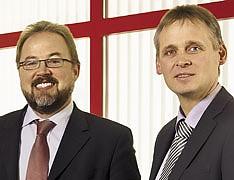 основатель CEO LS telcom AG Манфред Лебхерц и операционный директор компании Роланд Гетс (на фото справа).