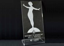 """В 2007 г. телеканал """"НТВ-Плюс наш Футбол"""" был удостоен специального приза в номинации """"Спортивный канал"""" одной из самых престижных премий в мире телевидения - Hot Bird TV Awards"""
